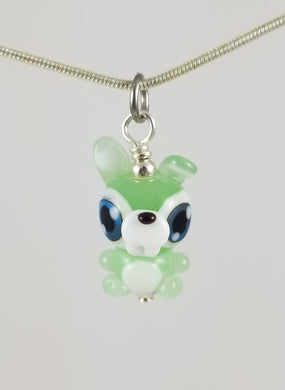 Sal Bunny Hand Sculpted Glass Pendant LIMITED COLLECTION