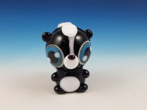 Betty Skunk Hand Sculpted Glass Figure LIMITED COLLECTION