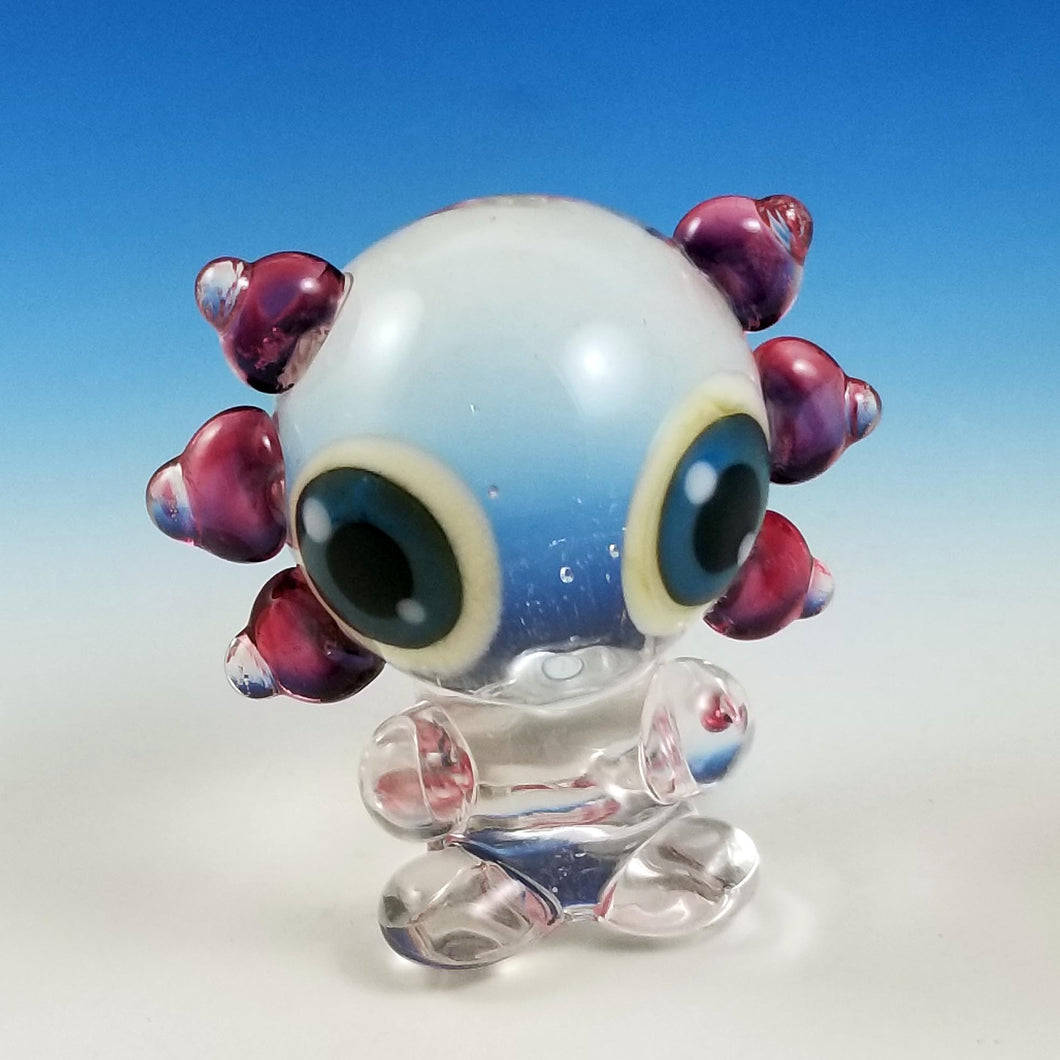 Axel Axolotl Hand Sculpted Glass Figure