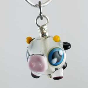 2020 Vision Cynthia Cow Hand Sculpted Glass Pendant