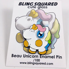 Load image into Gallery viewer, Beau Unicorn Enamel Pin