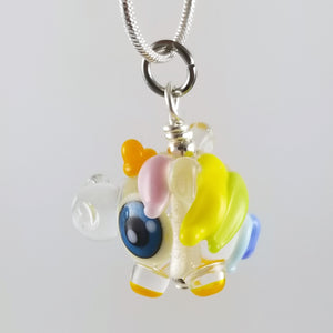 2020 Vision Beau Unicorn Hand Sculpted Glass Pendant