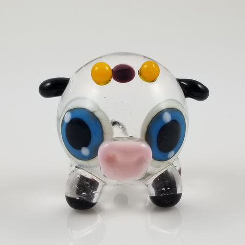 2020 Vision Cynthia Cow Hand Sculpted Glass Figure