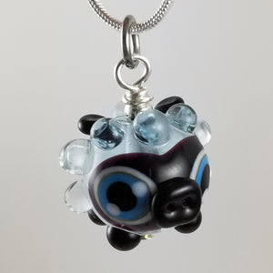 2020 Vision Dolly Lamb Hand Sculpted Glass Pendant