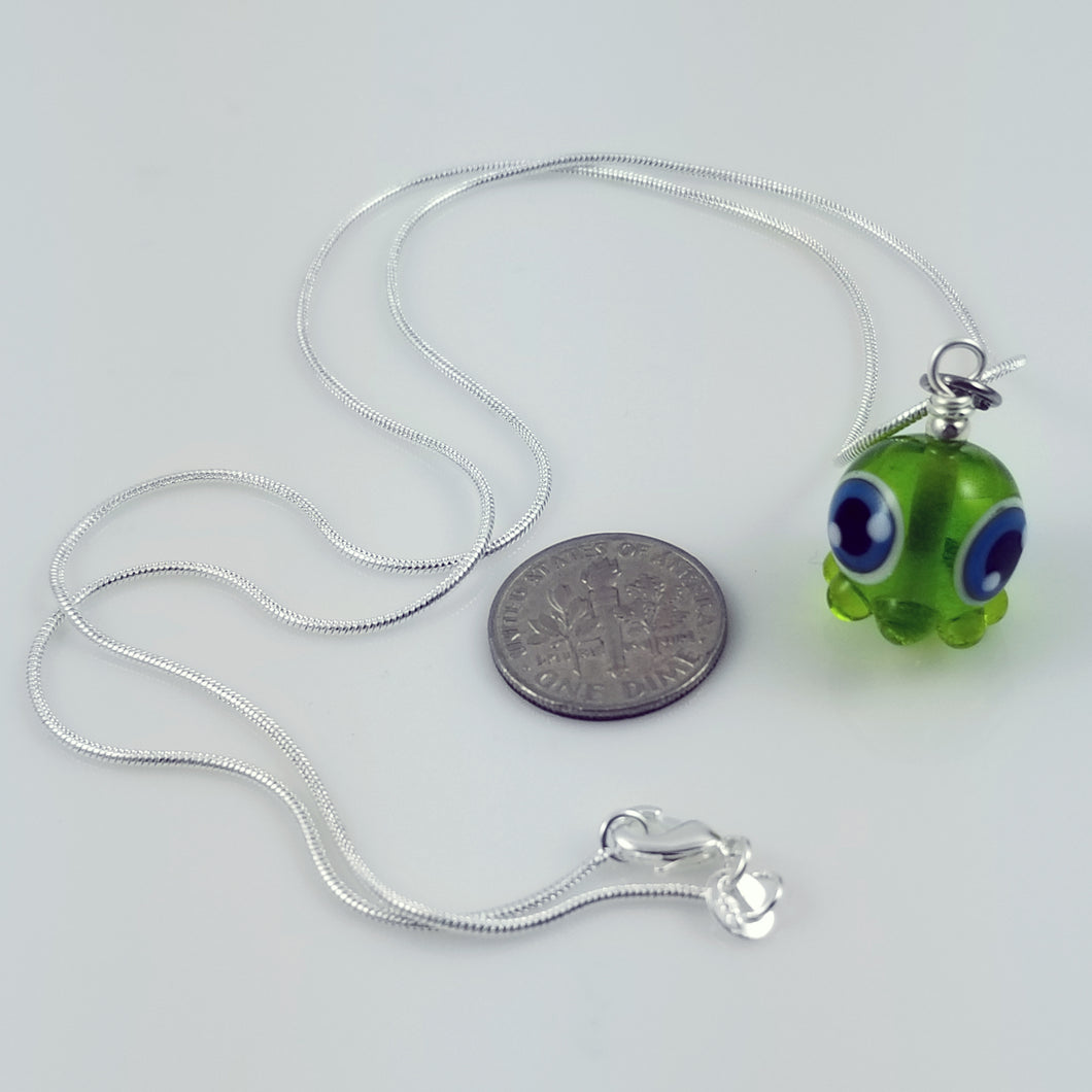 2020 Vision Fish Octopode Hand Sculpted Glass Pendant