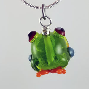 2020 Vision Franklin Tree Frog Hand Sculpted Glass Pendant