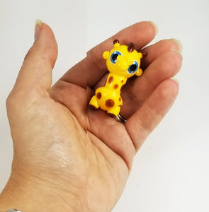 Geoffrey Giraffe Hand Sculpted Glass Figure