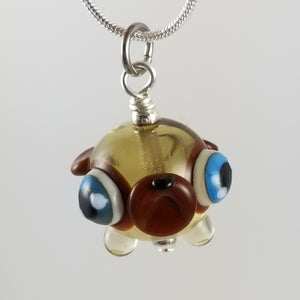 2020 Vision Georgia Pug Hand Sculpted Glass Pendant