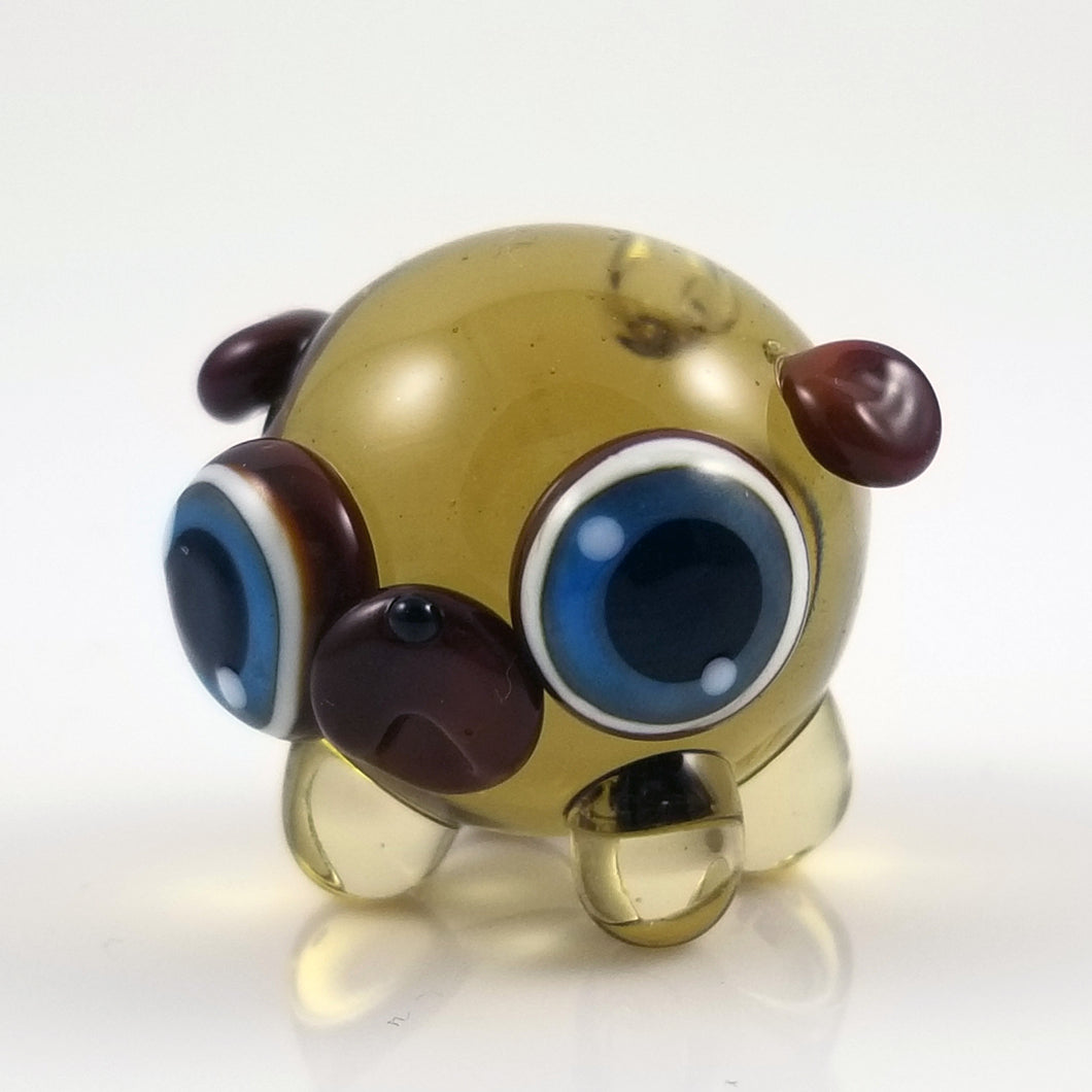 2020 Vision Georgia Pug Hand Sculpted Glass Figure