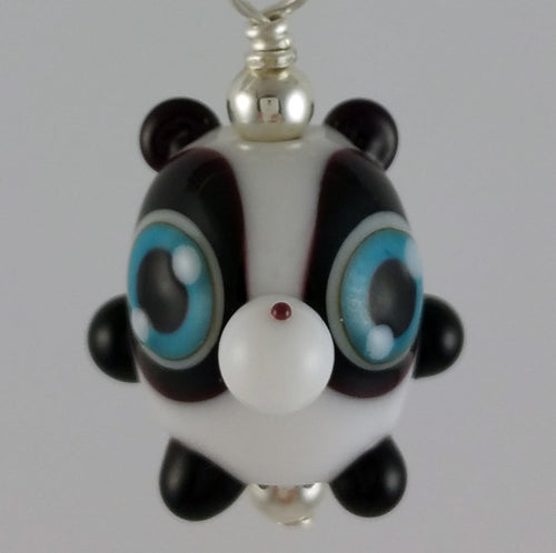 Johnny Panda Hand Sculpted Glass Pendant
