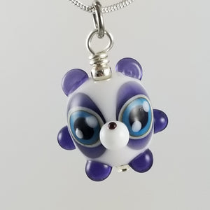 2020 Vision Johnny Panda Hand Sculpted Glass Pendant