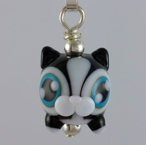 Kitteh Kitty Hand Sculpted Glass Pendant
