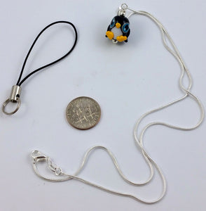 Pippin Penguin Hand Sculpted Glass Pendant