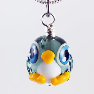 2020 Vision Pippin Penguin Hand Sculpted Glass Pendant