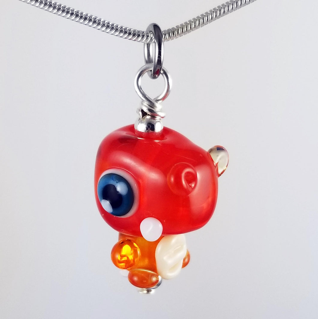 Rawry Rex Hand Sculpted Glass Pendant