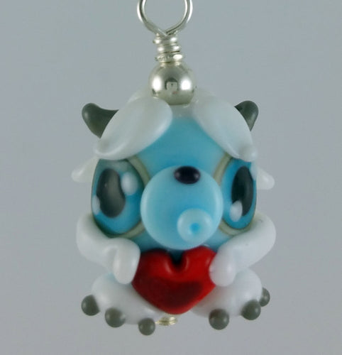 Shyla Yeti Hand Sculpted Glass Pendant