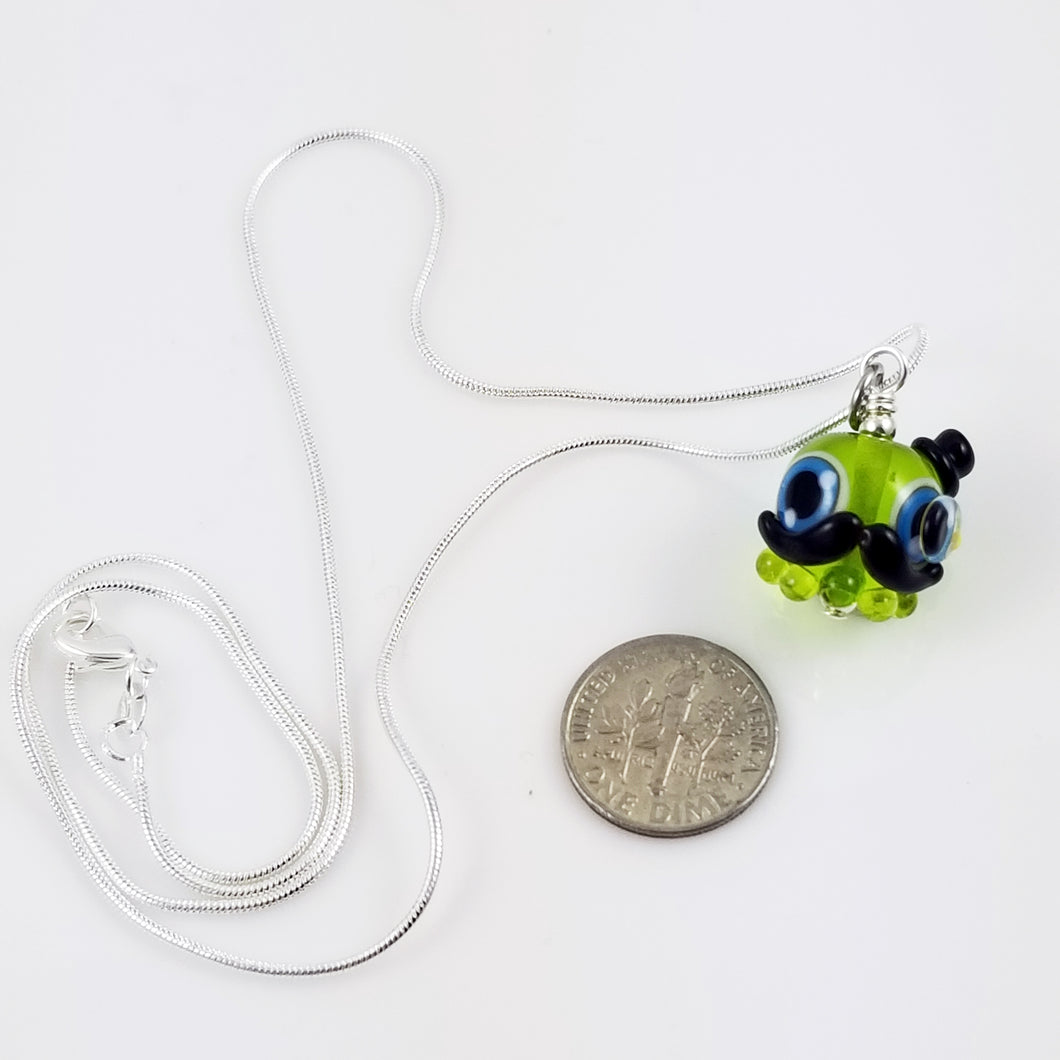 2020 Vision Sir Fish Octopode Hand Sculpted Glass Pendant