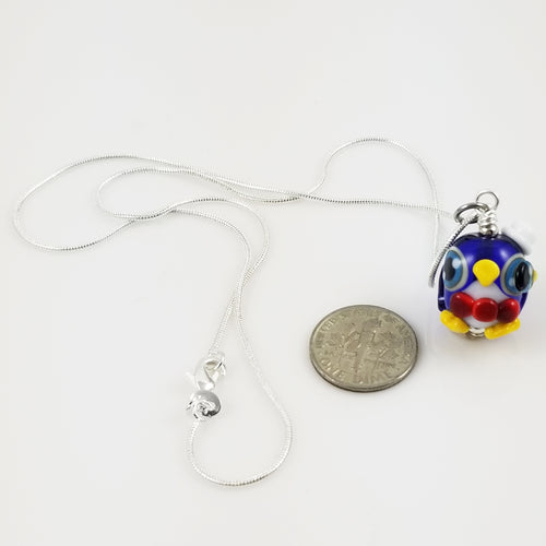 2020 Vision Sir Pippin Penguin Hand Sculpted Glass Pendant