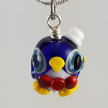 Load image into Gallery viewer, 2020 Vision Sir Pippin Penguin Hand Sculpted Glass Pendant