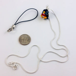 Sir Pippin Penguin Hand Sculpted Glass Pendant