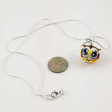 Load image into Gallery viewer, 2020 Vision Soren Owl Hand Sculpted Glass Pendant