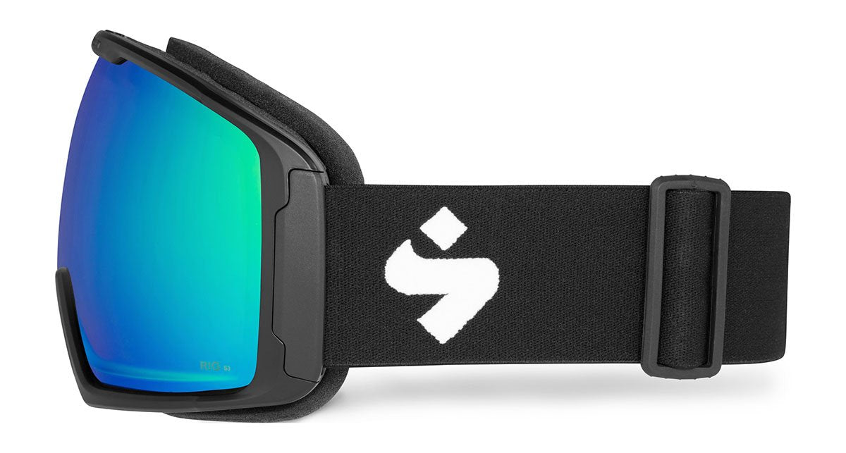 Sweet Protection Clockwork Max RIG Matte Black / RIG Emerald Goggles