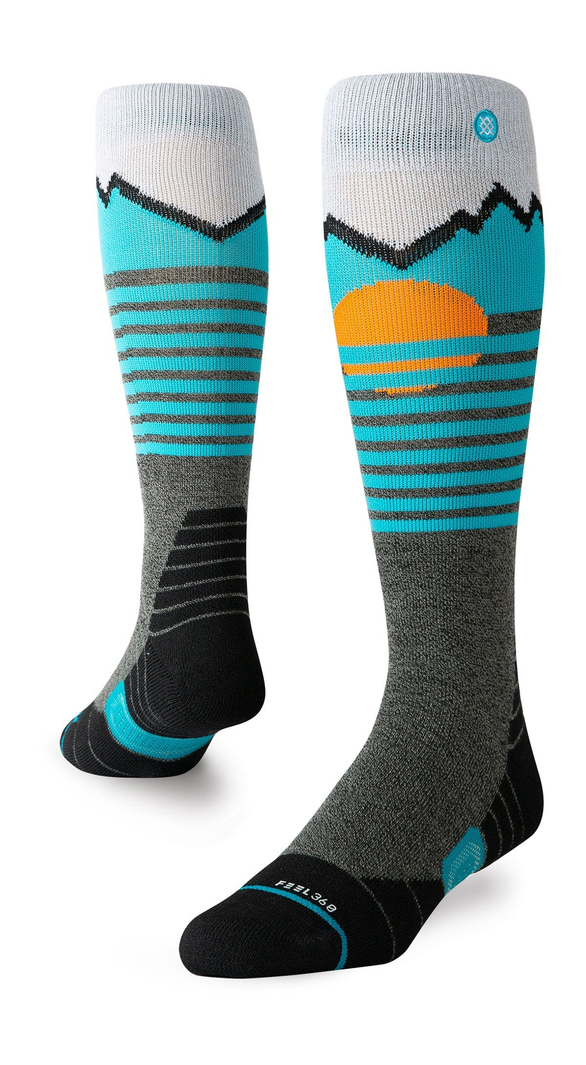 Stance Mens Mountain 2 pack Ski Socks