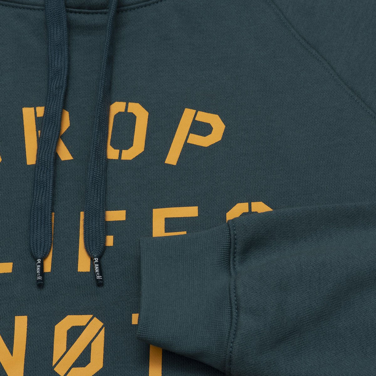 Planks Drop Cliffs Stencil Hood | Planks Clothing