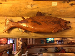 Wall-hanging Salmon Carving (Shipping and Handling included)