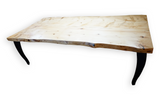 Clear Stained Alaska Spruce Live Edge Dining Table