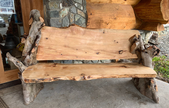 7' Driftwood Bench 2020 by Greg Anderson