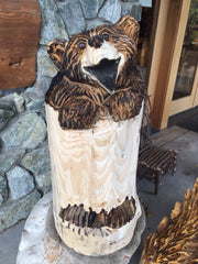 Happy Standing Stump Bear (Shipping and Handling included)