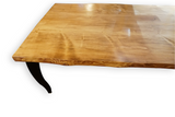 Medium Walnut Live Edge Spruce Dining Table