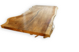 Live Edge Redwood Dining Table with Driftwood base