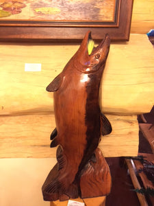 Red Cedar Salmon Carving (Shipping and Handling Included)