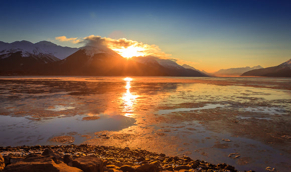 Turnagain Arm Sunrise by Dan Twitchell