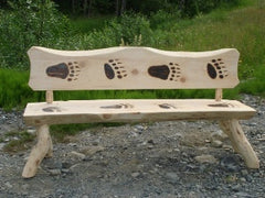 Bear Paw Log Bench (6 feet long)