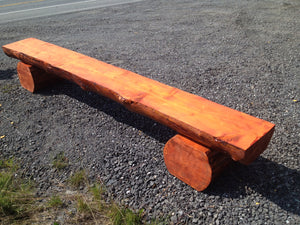 Alaskan Spruce Log Bench - 10'