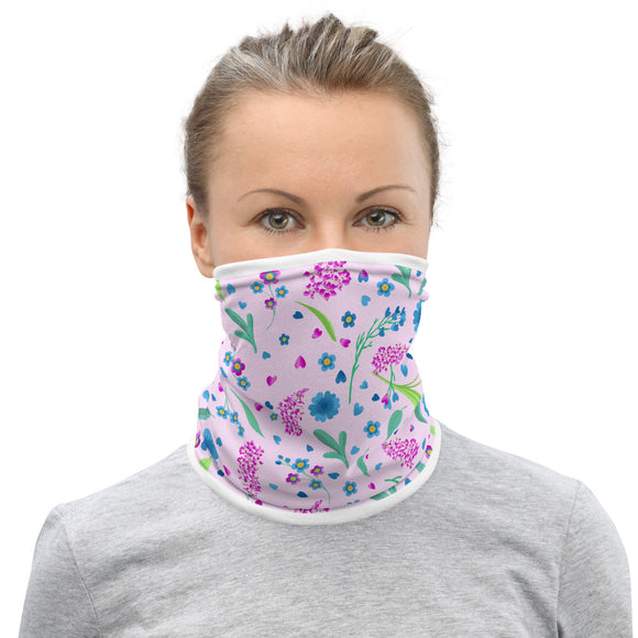 Fireweed and Flowers Neck Gaiter