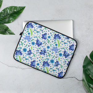 Forget-Me-Not Floral Design Laptop Sleeve