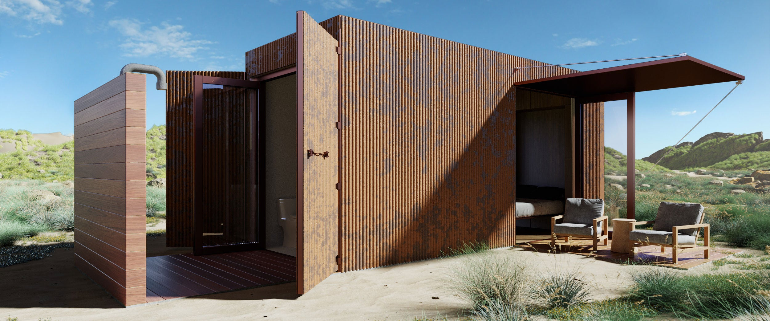 Buhaus Container Home Exterior Rustern