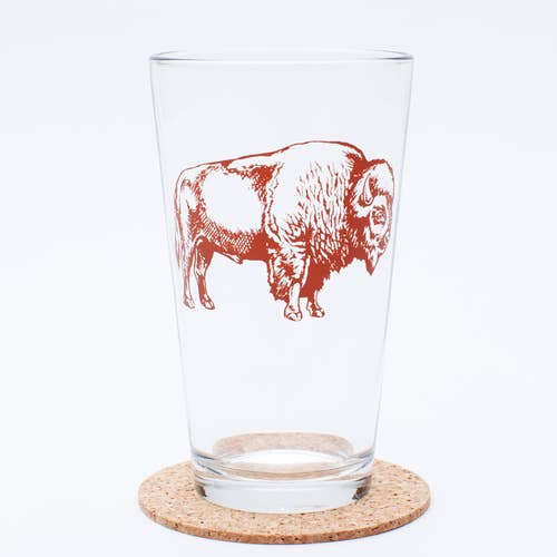Bison Pint Glass
