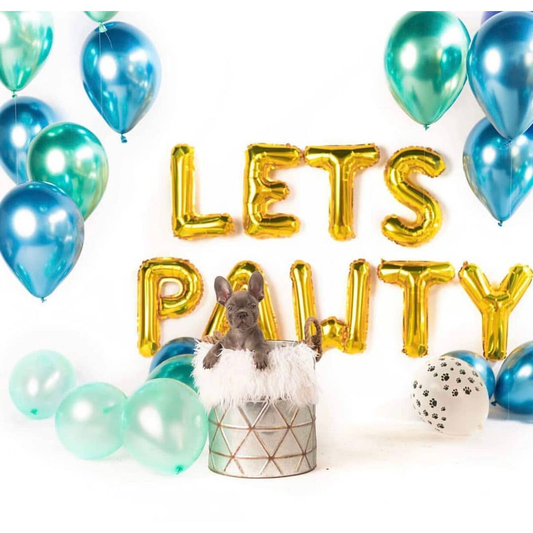 Let's Pawty Balloon Banner