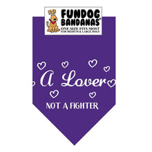 Load image into Gallery viewer, A Lover Not a Fighter Bandana