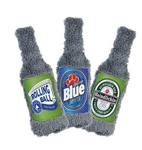 Beer Bottle Dog Toy