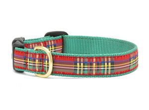 Sparkle Plaid Dog Collar