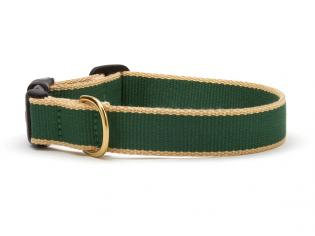 Green Market Green with Tan Dog Collar