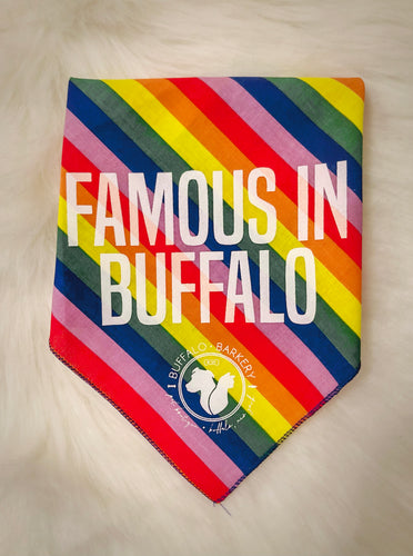 Famous in Buffalo Rainbow Bandana