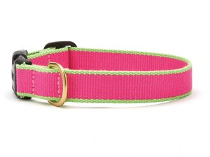 Green Market Pink with Lime Dog Collar