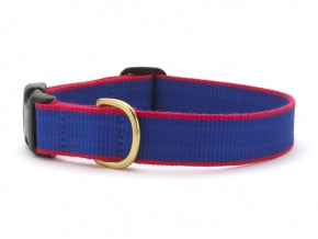 Green Market Blue with Red Dog Collar